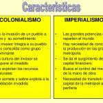 imperialismo y colonialismo características