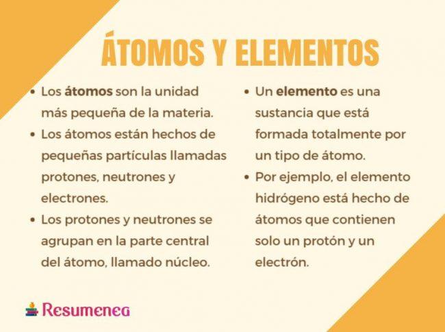 atomo y elemento semejanza