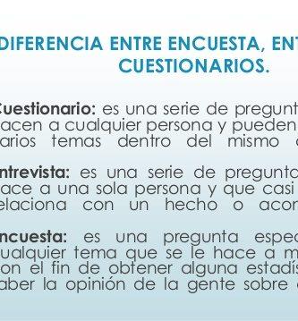 diferencia entre encuesta y entrevista estructurada