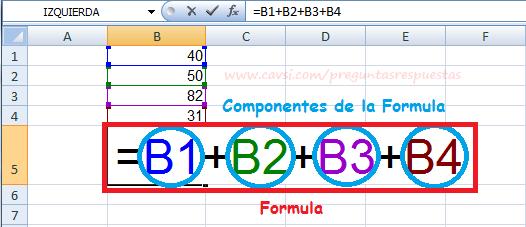 Qué es Fórmula en Excel
