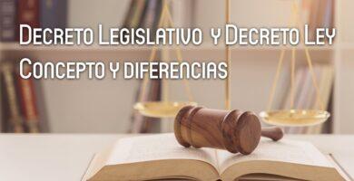 Ley y Decreto Legislativo