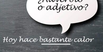 Adjetivo y adverbio